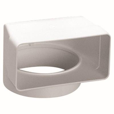 kolano płaskie prostokątne PVC 120x60mm