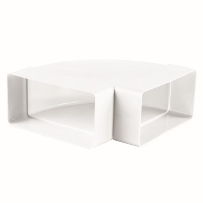 kolano poziome prostokątne 90 ° PVC 120x60mm