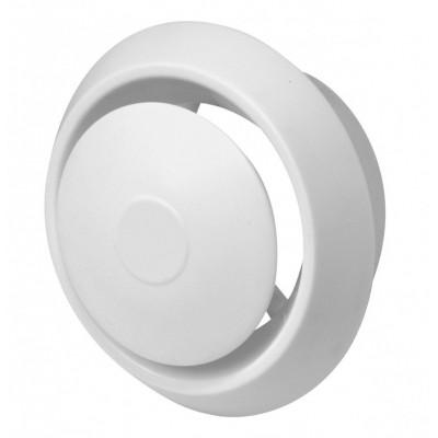 Anemostat plastikowy z ramką biały nawiewno-wywiewny