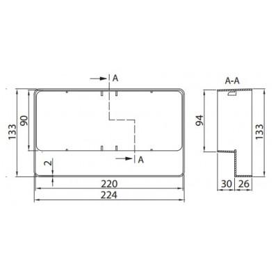 Redukcja  PVC 220x90  Domus 977
