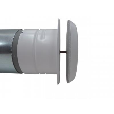 Okrągły nawietrzak akustyczny z czerpnią z blachy chromoniklowej