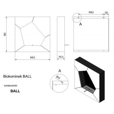 Biokominek BALL biały