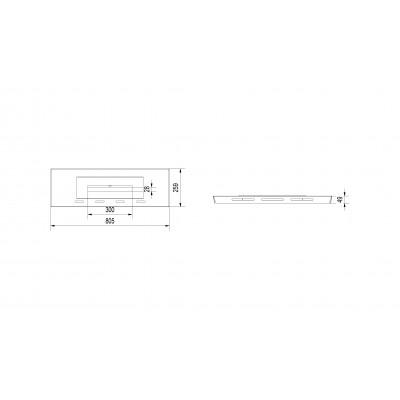 Biowkładka do wkładu kominkowego - MILA 805x259mm