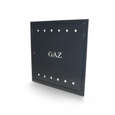 Drzwiczki gazowe antracyt 60x60 cm z kluczem GAZ