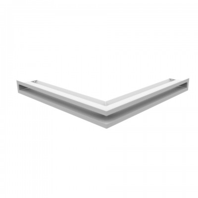 Kratka kominkowa LUFT SF narożny biały 56x56x6