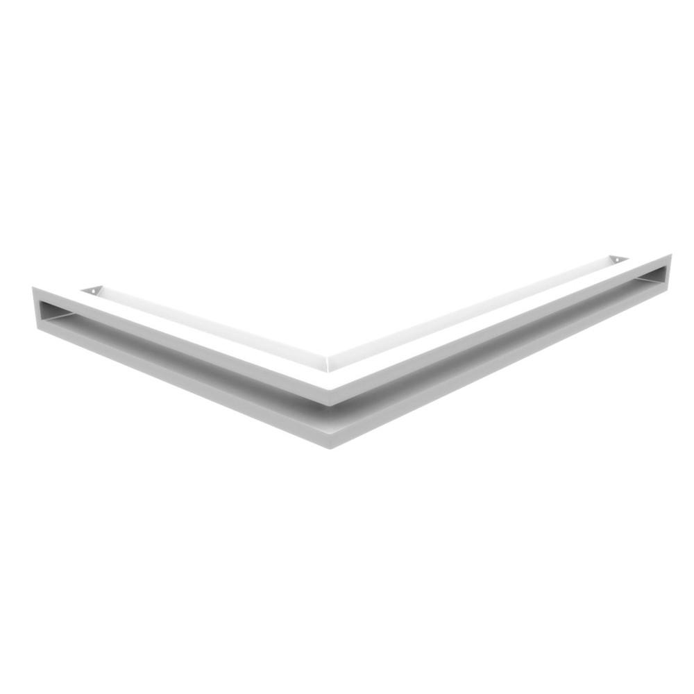 Kratka kominkowa LUFT SF narożny prawy biały 54,7x76,6x6