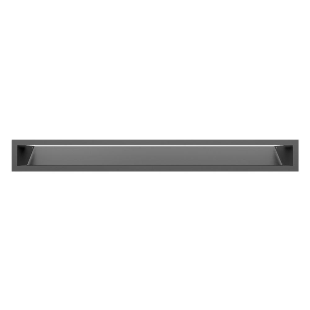 Kratka kominkowa LUFT SF grafitowy 9x80