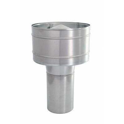 Wywietrzak cylindryczny WCG bez podstawy daszek ocynk