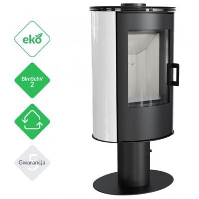 Piec KOZA AB S/N/O 8 kW fi 150 biały obrotowy z panelami kaflowymi