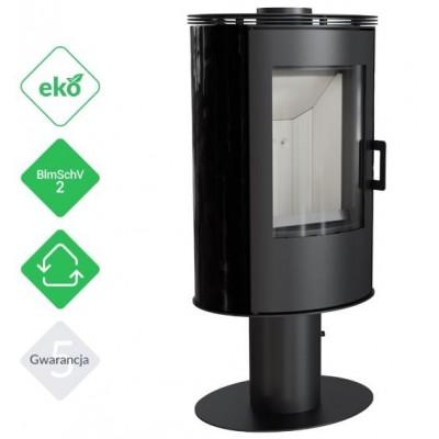 Piec KOZA AB S/N 8 kW fi 150 czarny z panelami kaflowymi
