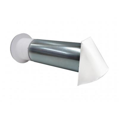 Nawietrzak biały okrągły z anemostatem filtrem i stabilizatorem