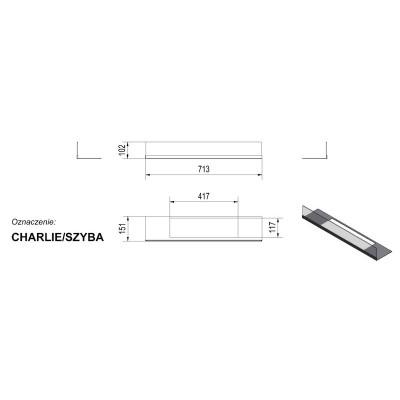 PPrzeszklenie do biokominka CHARLE szyba + podstawa