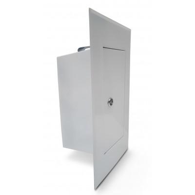 Drzwiczki kominowe białe 13x26cm wyczystka