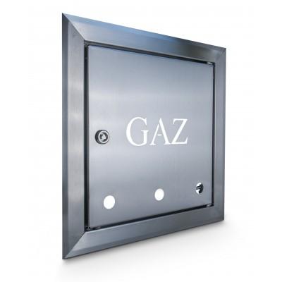 Drzwiczki gazowe nierdzewne 25x25cm z kluczem