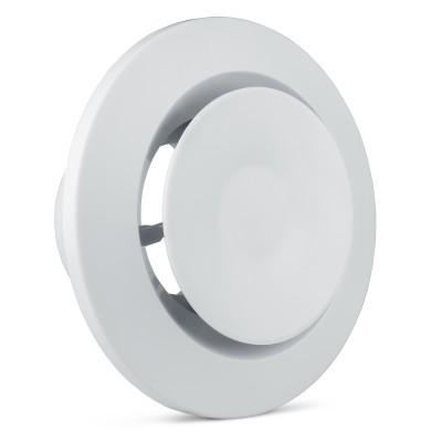 Anemostat plastikowy z ramką fi 75 biały VAN75