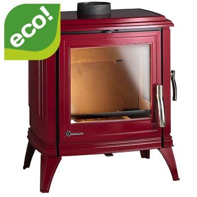 Piec wolnostojący 10 kW SEDAN M czerwona emalia