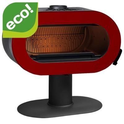 Piec wolnostojący 10 kW FIFTY czerwona emalia