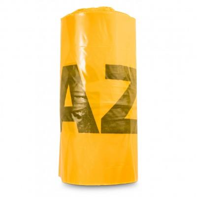 Taśma ostrzegawcza 20cm folia znacznik GAZ żółta