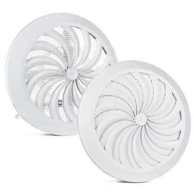 Kratka wentylacyjna biała regulowana fi 100-150