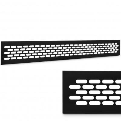 Kratka wentylacyjna aluminiowa czarny mat 60x480mm