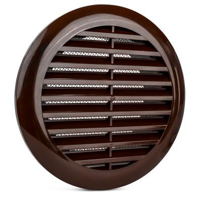 Wyrzutnia czerpnia kratka brązowa z siatką fi 100 mm