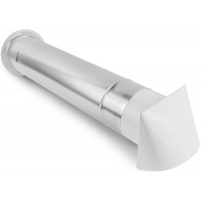 Nawietrzak nawiewnik wentylacyjny biały 0,5m (fi 100, 125, 150, 200, 250)