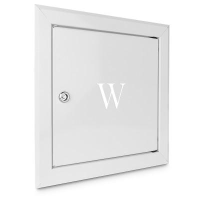 Drzwiczki WODA Zawór wody białe 25x25cm z kluczem