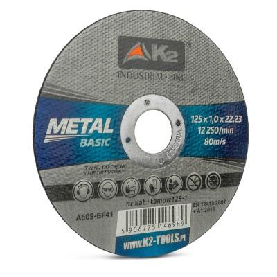 Tarcza do cięcia metalu 125 x 1,0mm METAL BASIC K2