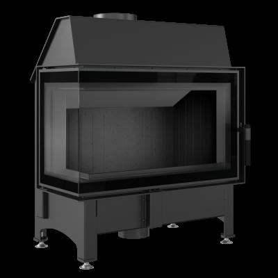 Wkład kominkowy ZIBI 11kW lewy DECO BLACK czarny