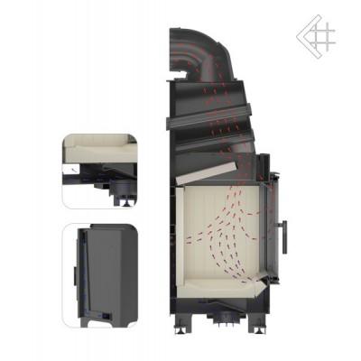 Wkład kominkowy 15 kW MBO P BS G prawy, gilotyna (szyby łączone bez szprosa)