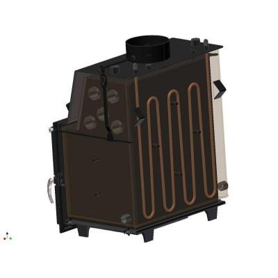 Wkład kominkowy 19 kW ZUZIA PW 19 W D z płaszczem wodnym, wężownicą i dolotem
